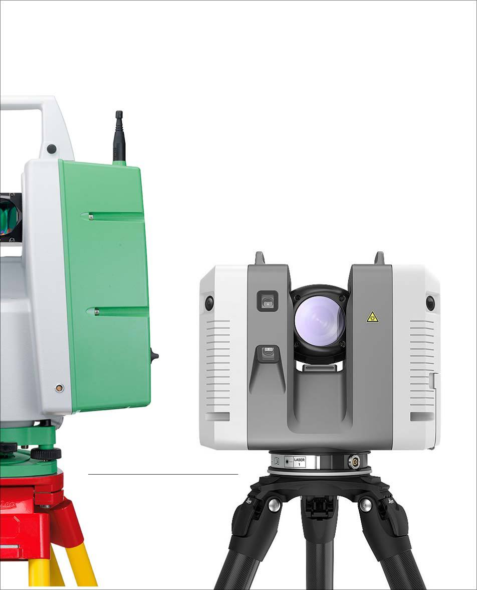 Image that shows a size comparison of the Leica C10 and Leica RTC360.
