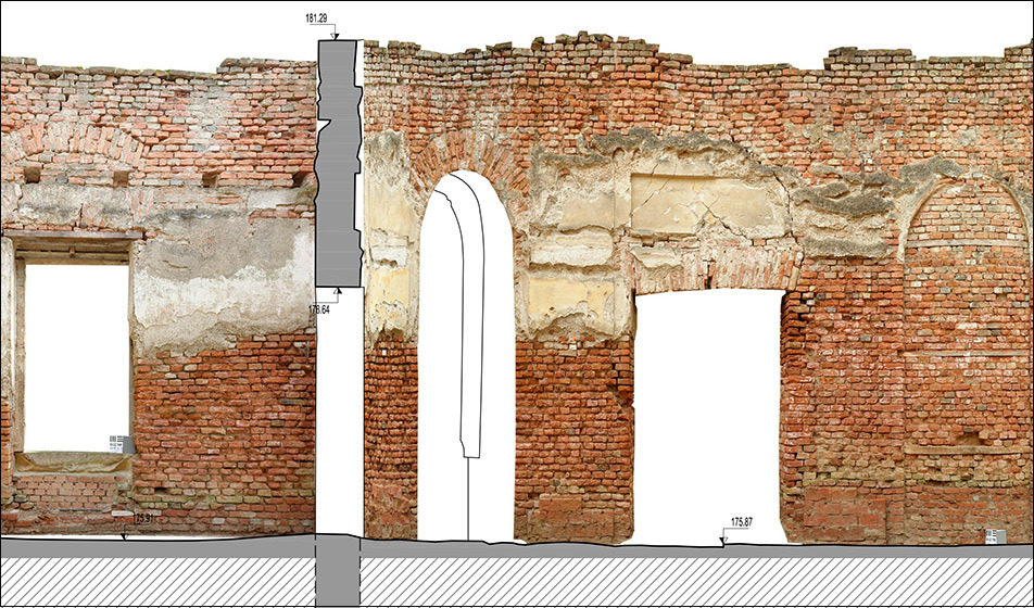 "A photogrammetric image by Bogensberger Vermessung / Surveys of the cultural site ""Haus der Laune"" in Laxenburg."