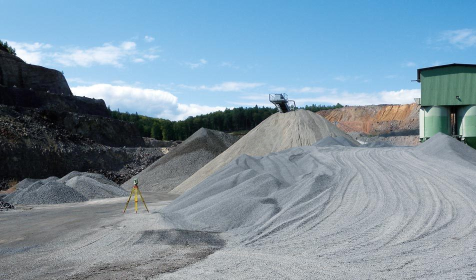 Picture of the basalt quarry in Klöch by Bogensberger Vermessung /Surveys.